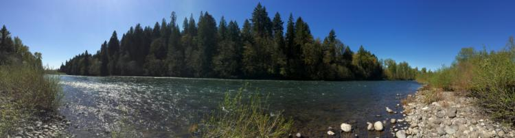 The Clackamas River, Oregon.